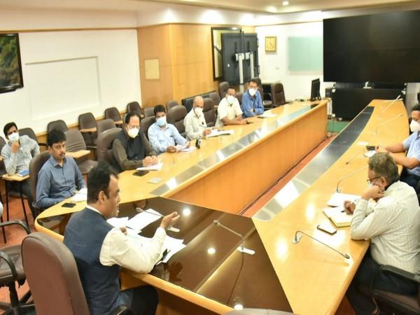 Visual of meeting chaired by Karnataka Deputy CM, Dr CN Ashwatha Narayana (Photo/ANI)