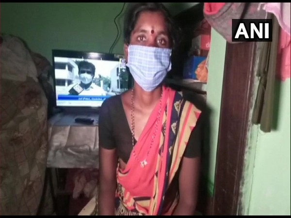 Kasturi, who sold her 'mangalsutra' to buy TV set for her children in Gadag, Karnataka. (Photo/ANI)