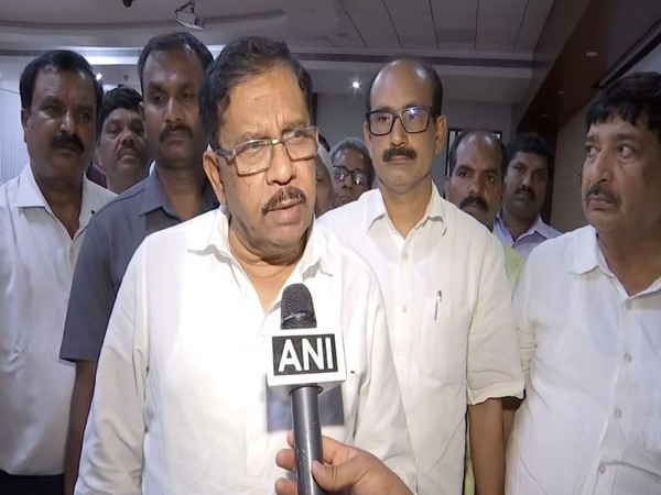 Karnataka Deputy Chief Minister Dr G Parameshwar while speaking to ANI. Photo: ANI.