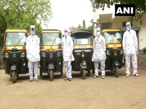 Visual of auto ambulance service in Kalaburagi (Photo/ANI)