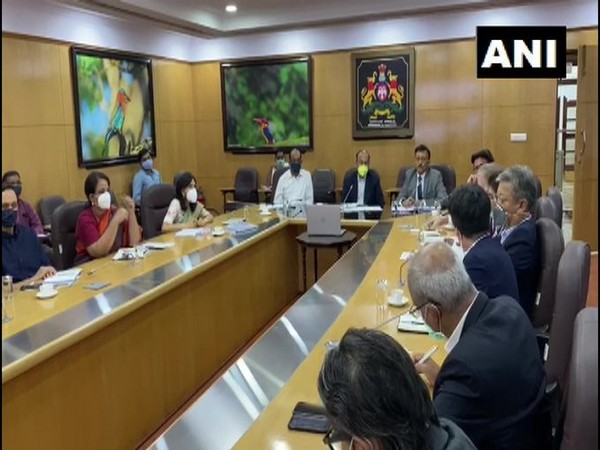 Visual from the first meeting of the task force in Bengaluru on Wednesday. Photo/ANI