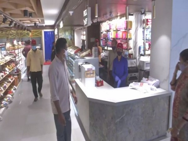 A view of a sweet shop in New Delhi's Karol Bagh on Sunday. Photo/ANI