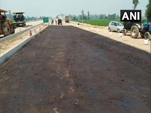 Construction of Kartarpur Corridor being carried out in Gurdaspur district of Punjab.