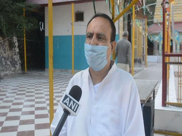 Alok Kumar, Mattan temple's president speaking to ANI on Wednesday. (Photo/ANI)
