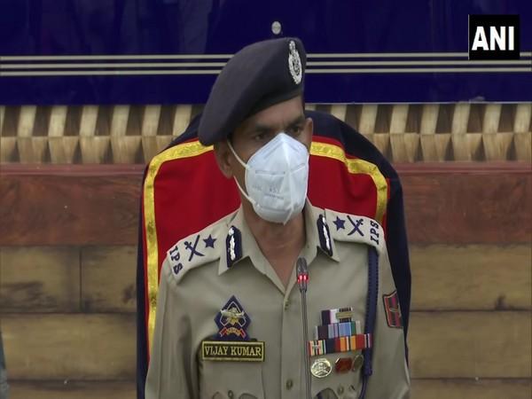 Vijay Kumar, Inspector General of Police (IG) Kashmir on Friday. (Photo/ANI)