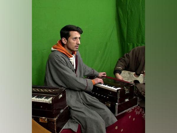 Adil Manzoor Shah at his studio in Kashmir.