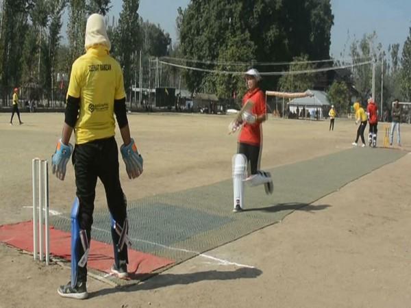 Indian Army, ASEEM organise Women Cricket Tournament in J-K's Anantnag. Photo/ANI