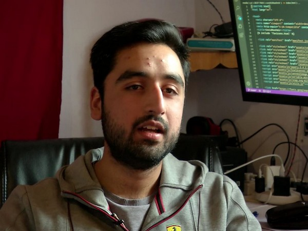 MCA student Haider Ali Punjabi. Photo/ANI