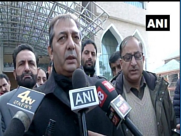 Divisional Commissioner of Kashmir Baseer Ahmad Khan speaking to reporters in Srinagar on Tuesday.