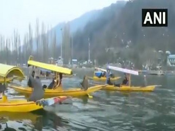 The second batch of foreign envoys enjoying boat ride on Dal Lake in Srinagar on Wednesday.