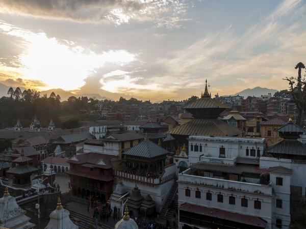 Pashupatinath Temple has reopened while adhering to COVID-19 protocols. Photo/ANI