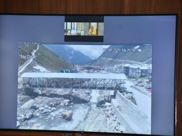 Prime Minister Narendra Modi took a review of the developmental works being carried out in Kedarnath Dham. (Photo/CM TS Rawat Twitter)