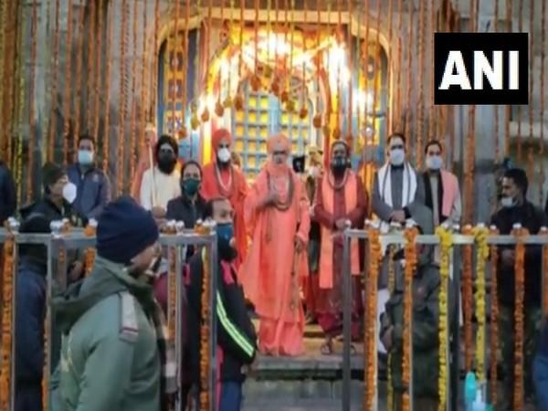Visual of Kedarnath shrine. (Photo/ANI)