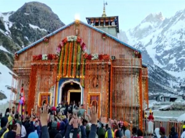 Rituals performed at Kedranath Temple on Thursday. (Photo/ANI)