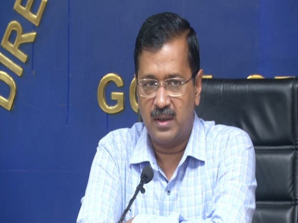 Delhi Chief Minister Arvind Kejriwal addressing a press conference on Friday in New Delhi. (Photo/ANI)