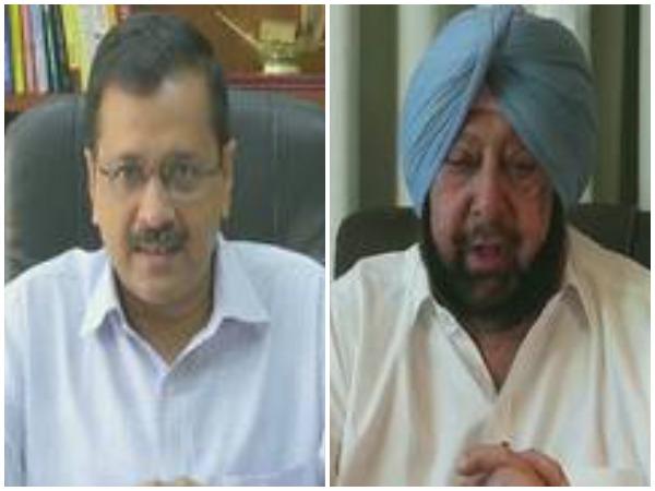 Delhi Chief Minister Arvind Kejriwal and Punjab Chief Minister Capt Amarinder Singh (File Photo)