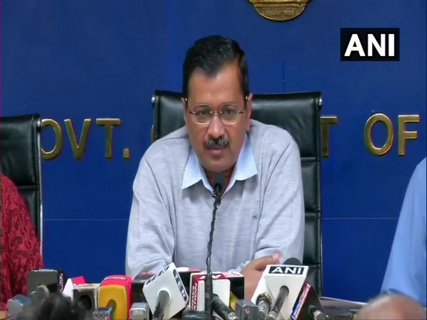 Delhi Chief Minister Arvind Kejriwal during press conference in New Delhi on Sunday. Photo/ANI