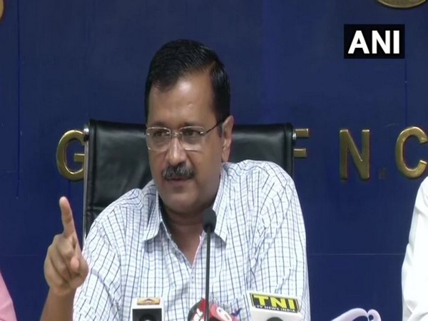 Delhi Chief Minister Arvind Kejriwal addressing a press conference on Tuesday.