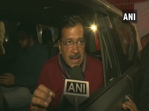 Delhi Chief Minister Arvind Kejriwal addressing a press conference on Friday. Photo/ANI