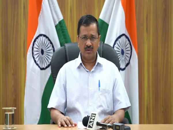 Delhi Chief Minister Arvind Kejriwal addressing a press conference in the national capital on Thursday. (Photo/ANI)
