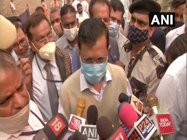 Chief Minister Arvind Kejriwal speaking to reporters in Delhi on Wednesday. [Photo/ANI]