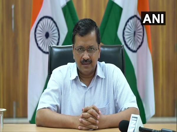 Delhi CM Arvind Kejriwal addressing a press conference in New Delhi on Monday.