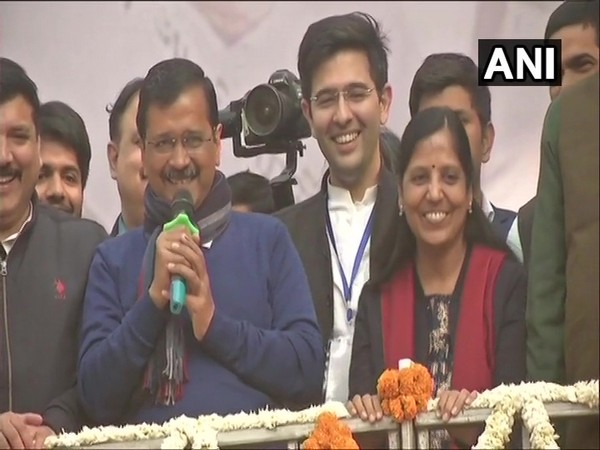 Delhi Chief Minister Arvind Kejriwal addressing AAP supporters in Delhi on Tuesday.