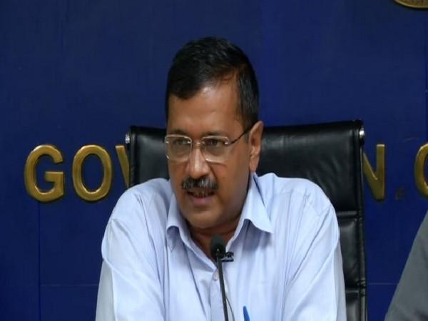Delhi CM Arvind Kejriwal addressing a press conference on Thursday. Photo/ANI