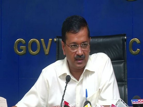 Chief Minister Arvind Kejriwal addressing a press conference in Delhi on Monday. Photo/ANI