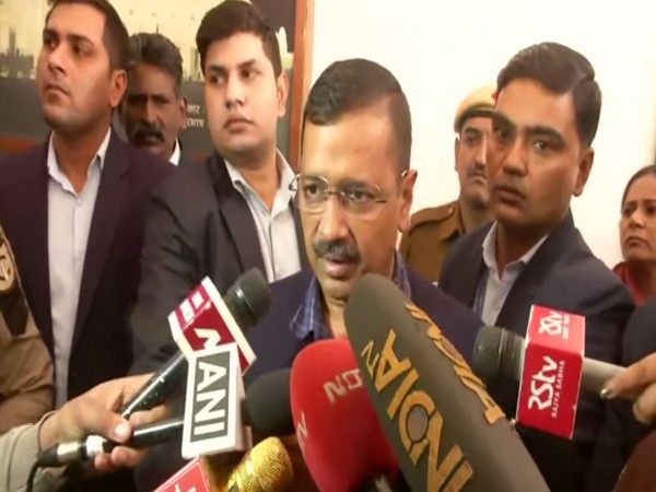 Chief Minister Arvind Kejriwal talking to reports in New Delhi on Monday. Photo/ANI