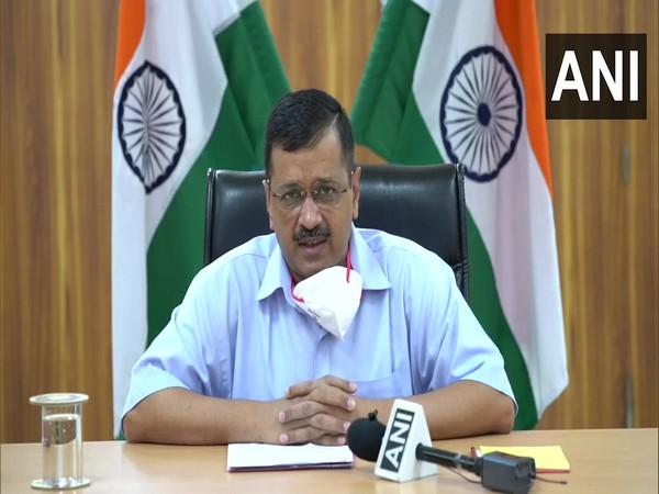 Delhi CM Arvind Kejriwal addressing a video conference in New Delhi on Monday. Photo/ANI