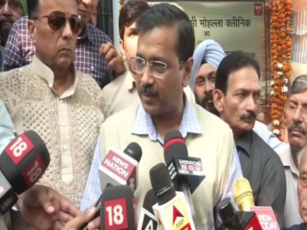Delhi Chief Minister Arvind Kejriwal speaking to media persons in New Delhi on Wednesday. (Photo/ANI)