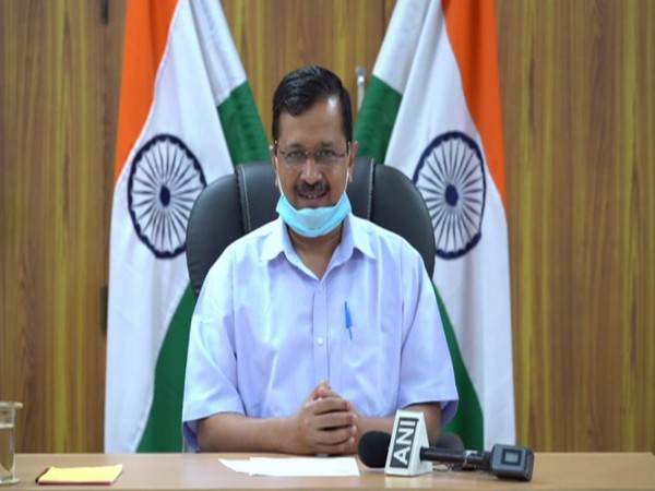 Delhi Chief Minister Arvind Kejriwal at a press conference in New Delhi on Friday. [Photo/ANI]
