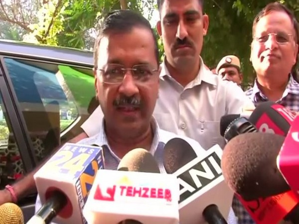 Delhi Chief Minister Arvind Kejriwal speaking to ANI in New Delhi on Monday. (Photo/ANI)