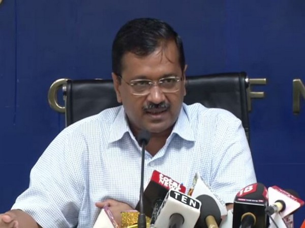 Delhi Chief Minister Arvind Kejriwal addressing a press conference in New Delhi on Wednesday. Photo/ANI