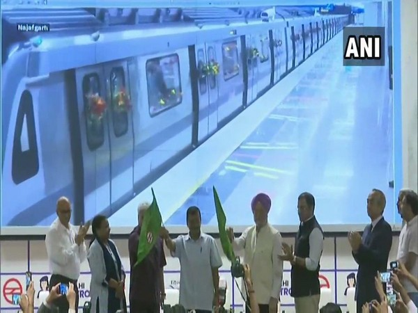 The Grey Line of Delhi Metro flagged off by Delhi Chief Minister Arvind Kejriwal and Union Minister HS Puri at Metro Bhawan in New Delhi on Friday.