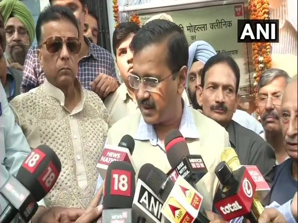 Delhi Chief Minister Arvind Kejriwal speaking to reporters in New Delhi on Wednesday.