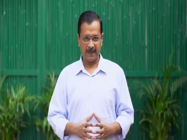 Delhi Chief Minister Arvind Kejriwal addressing people of Delhi in a video message on Sunday. Photo/ANI