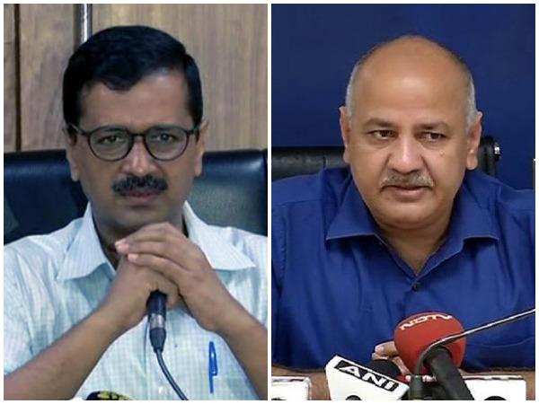 Delhi Chief Minister Arvind Kejriwal (L) and Deputy CM Manish Sisodia (R). (File pictures)