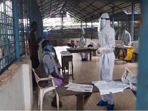 Poor getting screened for COVID-19 in Thiruvananthapuram [Photo/ANI]