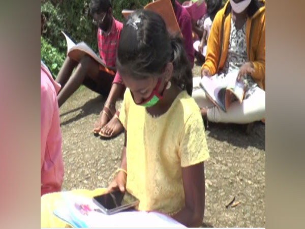 Taking online classes becomes uphill task for children in Kerala's Mattupetty. Photo/ANI