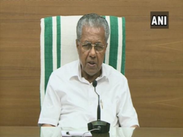 Kerala Chief Minister Pinarayi Vijayan speaking to media on Tuesday. Photo/ANI