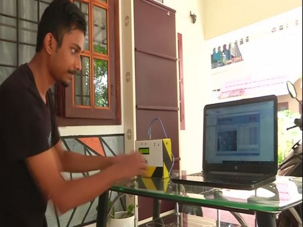 An engineering student in Kochi has invented the 'AutoTemp Camera Integration' on Monday. (Photo/ANI)