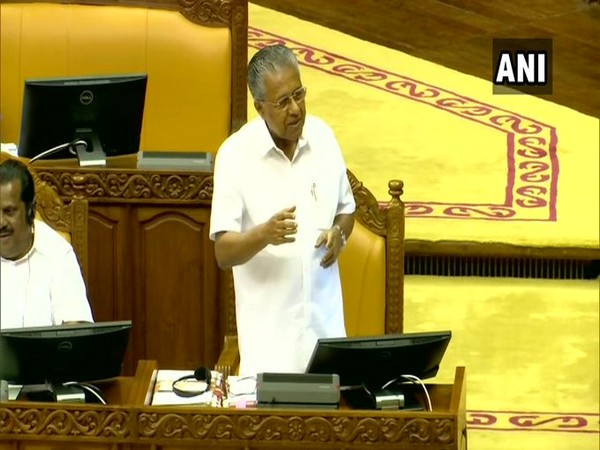 Kerala Chief Minister Pinarayi Vijayan speaking in the Kerala Assembly.  File photo/ANI