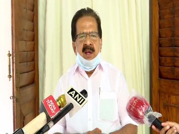 Kerala Opposition Leader Ramesh Chennithala speaking to media on Friday. (Photo/ANI)