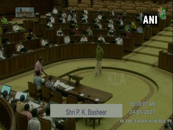 Visual of Kerala Assembly session. (Photo/ANI)