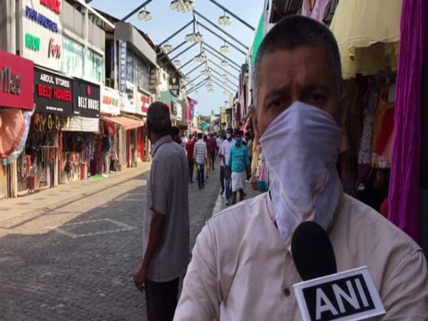 A shop owner speaking to ANI about business, ahead of Eid-ul-Fitr