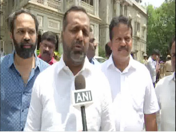 Karnataka Minister and JDS leader UT Khader talking to ANI in Bengaluru on Wednesday