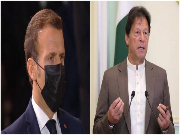French President Emmanuel Macron and Pakistan Prime Minister Imran Khan