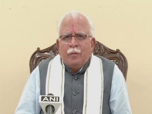 Haryana Chief Minister Manohar Lal Khattar during the Raksha Sutra programme on Sunday ahead of Raksha Bandhan.
